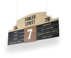 Retail Display Signage for Aisle Signs - THRIFTY - Economy Supermarket Aisle Signs Made with Your Info!