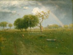 Painting - George Inness, American, After a Summer Shower, 1894, Oil on canvas, Edward B. Butler Collection, The Art Institute of Chicago (Image No. 00000157-01)