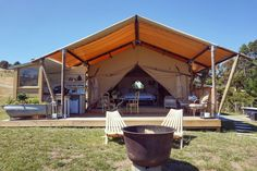 Clifton Glamping, a luxurious getaway just minutes from Havelock North, Hastings and Napier, where relaxation comes easy Havelock North, Glamping, Travel Ideas, Gazebo, Relax, Outdoor Structures, Luxury, Places, Outdoor Decor