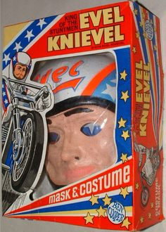1974 Evel Knievel Mask and Costume Halloween Items, Halloween Masks, Vintage Halloween, Halloween Decorations, Happy Halloween, 1970s Childhood, Childhood Toys, Childhood Memories, Retro Toys