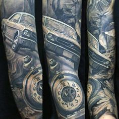 Mustang tattoo sleeve