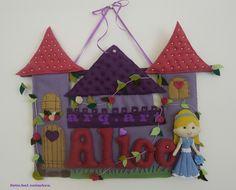...todo em feltro tambem #castle #princess #arquitetaarteira #felt