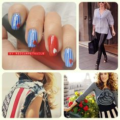 Get these super cool #july4th #4thjuly #summer #ontrend #nautical #red #white #blue #stripe #nails by RedCarpetNails £15. Book now 1redcarpetnails@gmail.com July 4th, Summer Nails, Nautical, Cool Stuff, Book, Red, Navy Marine, Cool Things, 4th Of July