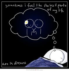 Sometimes I feel like the best parts of my life are in dreams. Picture Quotes.