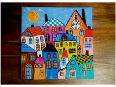 Obraz Barevné městečko, styl a la Pankrác - výškové budovy