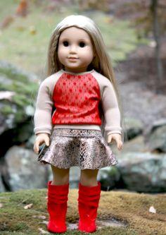 American Girl Doll Clothes Cheetah Print Skirt and by AvannaGirl