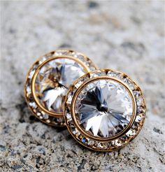 Sugar Sparklers - You Pick the Colors: Stud Earrings, Bridesmaid Earrings, Bridesmaid Gifts, Custom Bridal Jewelry. $29.50, via Etsy.