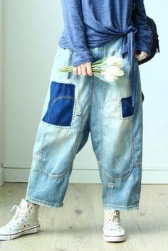Plus Size Dresses Women S Vintage Clothing Denim Vests, Baggy Clothes, Vintage Outfits, Vintage Clothing, Plus Size Jeans, Wide Leg Jeans, Vintage Denim, Jeans Style, Teen Fashion
