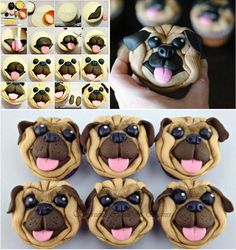 Pug Cupcakes Cupcake Toppers And Pug On Pinterest