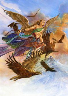 Raphael Angel Card by Briar Archangel Raphael Greeting Card Eagle Companions Card