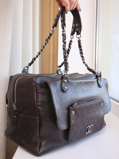 6c0c2dc09141 VERIFIED Authentic Rare Chanel Brown Caviar Leather Pocket in the City Tote  Bag $1199.0