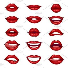 Face Drawing Female lips isolated vector by Vectorstockersland on Drawing Techniques, Drawing Tips, Makeup Drawing, Mouth Drawing, Smile Drawing, Manga Drawing, Female Lips, Art Drawings Sketches, Lip Drawings