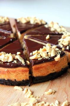 Double Chocolate Peanut Butter Cheesecake