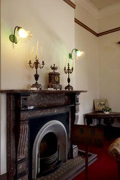 antique fireplace , Former Ringer House , Glover garden , Nagasaki