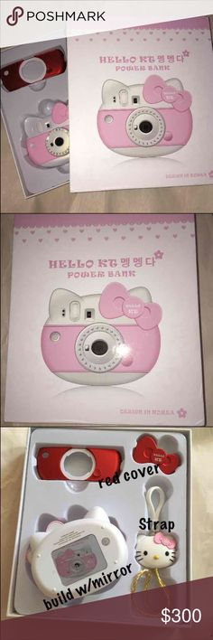 Hello Kitty Power Bank ◼️Hello Kitty Power Bank ◼️Design in Korea  ▪️hello kitty strap ▪️pink & red covered  ▪️HK box ▪️also build with mirror in back ▪️super cute    ☑️ Brand New. ☑️ Never Used  ☑️ Rare   ☑️ NO Trades . ☑️ Make an offer  ☑️ NO RUDE comment   ☑️ Bought this when I was in JAPAN   ☑️ NO RUDE COMMENT/DRAMA ALLOWED IN MY CLOSET Accessories