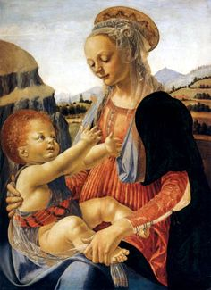 fra filippo lippi | Fra Filippo Lippi - Maria avec l'enfant