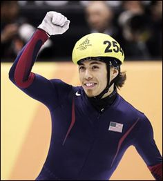 Apolo Anton Ohno~short track speed skating champion and medalist gold, 2 silver, 4 bronze) in the Winter Olympics. The most decorated Winter Olympic athlete of all time. Apolo Ohno, Sports Baby, Different Sports, Olympic Athletes, Sport 2, Sports Figures, Sports Activities, Summer Winter, Winter Olympics