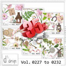 Vol. 0227 to 0232 - Nature Mix  by Doudou's Design  #CUdigitals cudigitals.comcu commercialdigitalscrapscrapbookgraphics #digiscrap