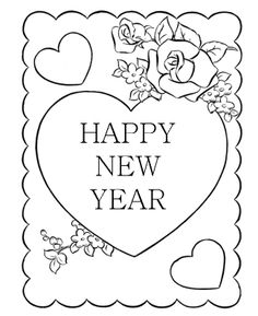 30 Best New Year Coloring Page Images On Pinterest New Year