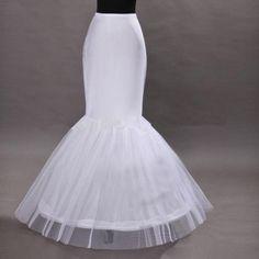 >> Click to Buy << new Ivory Hot sale Mermaid Petticoat/slip 1 Hoop Bone Elastic Wedding Dress Crinoline Trumpet 2017 #Affiliate