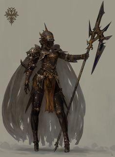 Artstation - d, sanha kim inspiration character art, fantasy character desi Fantasy Character Design, Character Design Inspiration, Character Art, High Fantasy, Fantasy Girl, Armor Concept, Concept Art, Female Knight, Female Armor