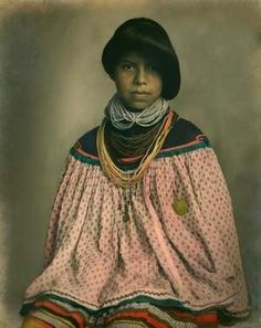 An undated photo of a young Miccosukee woman