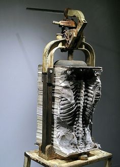 Maskull Lasserre - 'Lexicon', Carved newspapers, mechanical press