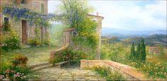 House On The Hill - 60x120 Painting #antoniettavarallo