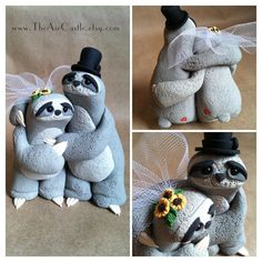 Sloth Love wedding cake topper by theaircastle on Etsy