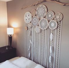 Wall decor room cute white dream catcher for on chic interior boho nursery Boho Bedroom Decor, Boho Room, Trendy Bedroom, Bedroom Wall, Boho Bedroom Diy, Bedroom Ideas, Gypsy Bedroom, Bohemian Wall Decor, Bedroom Designs