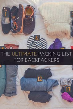 The complete packing list guide to what to take, how to pack it efficiently, and how to survive with less for a long term backpacking trip.