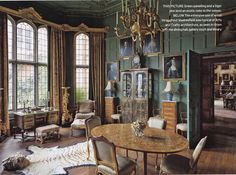 The Art of the Room - In Search of the Sublime in Design: Madresfield Court: the green paneled saloon