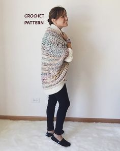Crochet Sweater Pattern Cocoon Shrug Pattern by CrochetByMichele