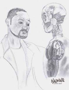 Fanart do filme Eu, Robo, com Will Smith.