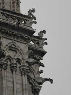 The Gargoyles of Notre Dame Cathedral, Paris, France - Life in Dutch: A Parisian Promenade (III)