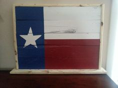DIY Texas flag :)
