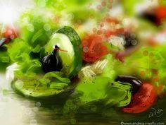 Ja, ich weiß, Frauen und ihr Salatgeknabbere. Aber was gibt es schöneres im Sommer, als leichte Küche 😉- selbst für eine Fee. Make Myday