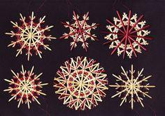 Strohsterne: 6er-Set VIOLETT adR40 von Handgefertigte Strohsterne auf DaWanda.com