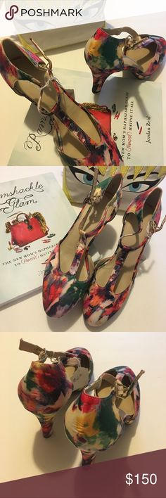 Rare ROS Homnerson Devon sample shoe Sz. 6 Rare ROS Homnerson Devon sample shoe Sz. 6. Fits like a 6.5 or 7. You won't find these anywhere else as they were part of the sample line. So gorgeous! Feed your colorful vintage vice with these gorgeous abstract floral t-strap pumps! New, never worn. I'm tempted to keep these ones for myself. Ros Hommerson Shoes Heels