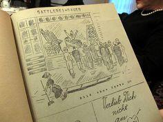 German wedding tradition- a wedding newspaper. Cute