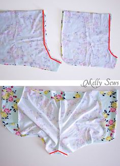 Step 1 - DIY Pom Pom Trim Shorts - These easy to make shorts are at home on the beach or at a concert. Sew boho shorts with this free pattern and tutorial by Melly Sews Sewing Shorts, Diy Shorts, Sewing Clothes, Diy Clothes, Boho Shorts, Black Shorts, Jean Shorts, Dress Sewing Patterns, Sewing Patterns Free