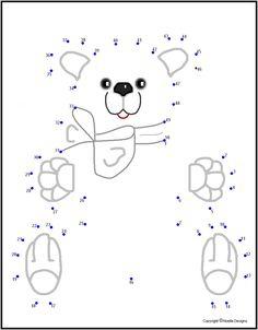 christmas gift teddy bear dot to dot Connect The Dots, Hello Kitty, Christmas Gifts, Snoopy, Teddy Bear, Classroom, School, Bears, Fictional Characters
