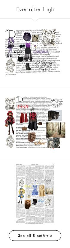 """""""Ever after High"""" by the-shadowrider on Polyvore featuring Balmain, WALL, Bettie Page, Loewe, Forever 21, Naughty Monkey, Carol Felley, Hoorsenbuhs, Glamorous and Jean-Paul Gaultier"""