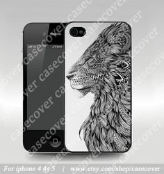 Lion  iphone 4 case iphone 4s case iphone 5 case eco by casecover, $6.80