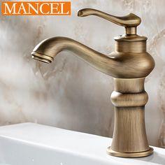 MANCEL Cozinha Banheiro Torneira Da Bacia de Bronze Antigo Finish Latão Mixer Torneira de Água Quente e Fria Torneira Da Pia Banho Acessórios HOT SALE