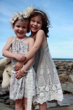Goooooooorgeous!  @emily Benzing flower girl dresses!