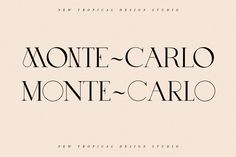 Monte~Carlo is a unique caps font with 2 uppercases. This font is both modern and nostalgic and works great for logos, mastheads and pull quotes. Types Of Lettering, Lettering Design, Branding Design, Logo Design, Graphic Design, Creative Market Fonts, Pull Quotes, Commercial Fonts, Typography Inspiration