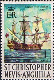 1970 St Christopher Nevis Anguilla SG 207 English Two-decker Warship Other West Indies and British Commonwealth Stamps HERE!