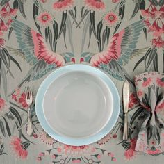 House of Heras is a boutique design studio led by award winning designer Silvana Azzi Heras, specialising in highly decorative designs applied to a variety of textiles, rugs, cushions and napery. Tablecloths, Boutique Design, A Boutique, Flannel Flower, Flower Prints, Fabric Patterns, House