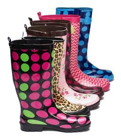 Spring: rubber boots